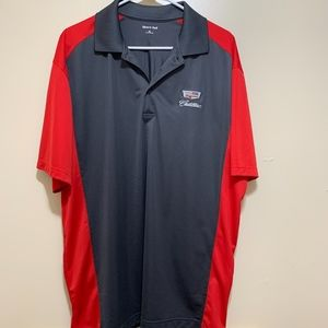 Cadillac Light Weight Polo Like New Gray and Red
